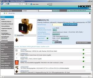 Online Abfrage bei Großhändlern