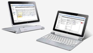 Tablet mit und ohne Tastatur